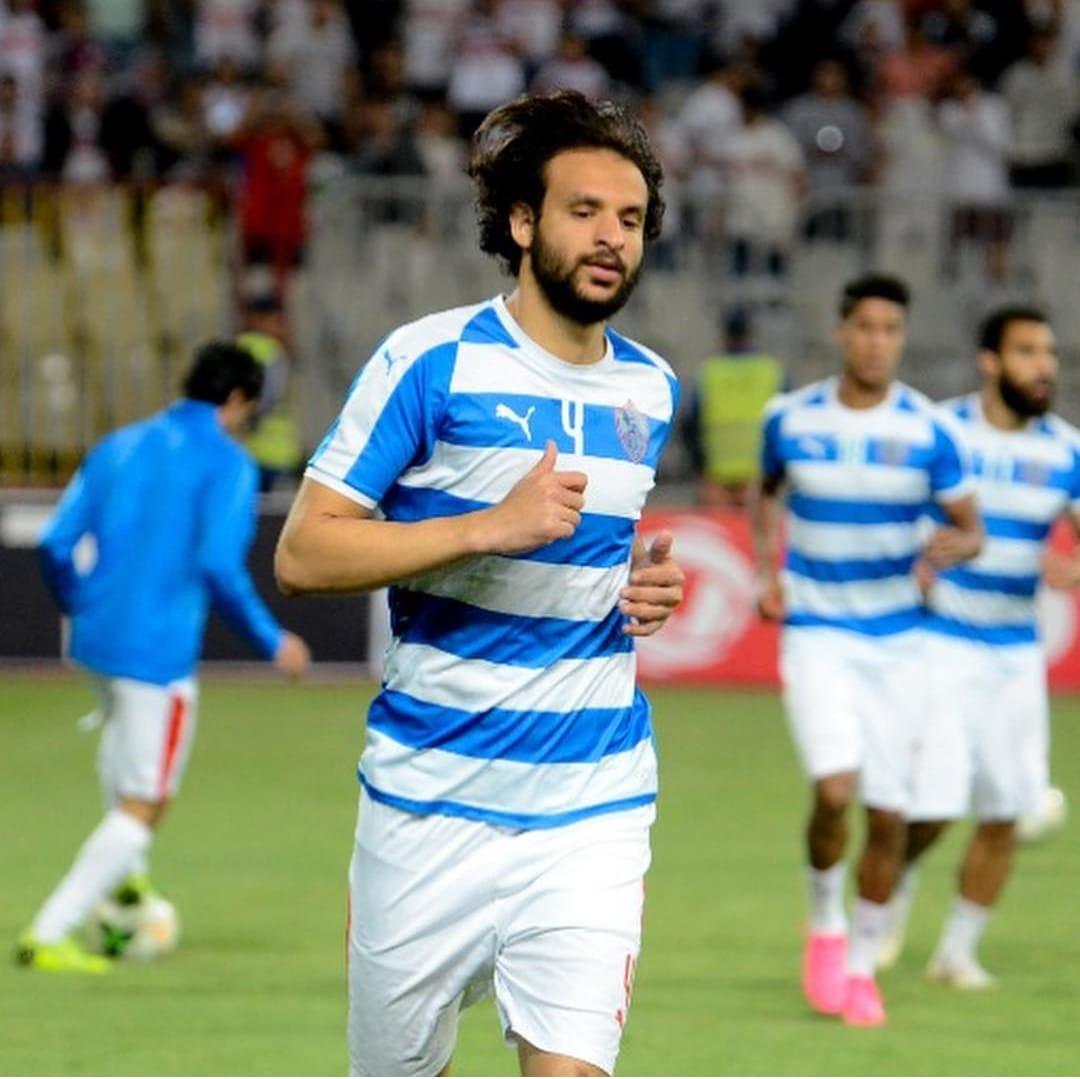 محمود علاء أثناء عمليات الأحماء