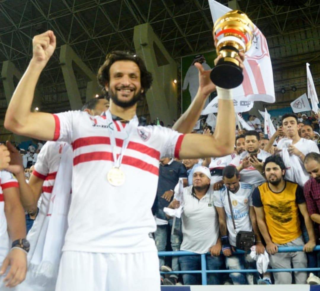 محمود علاء يحتفل مع الجماهير