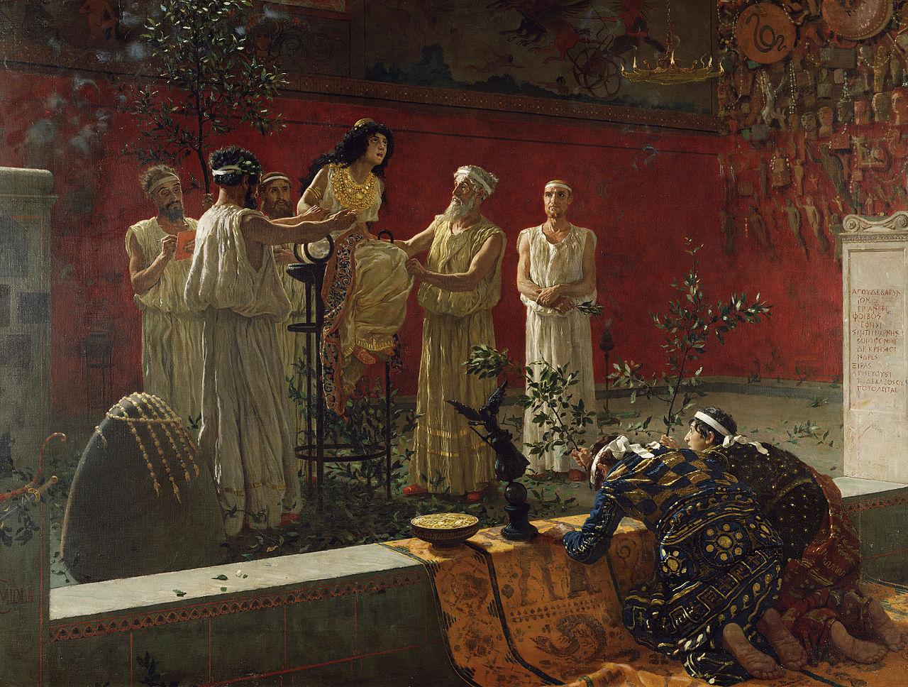 لوحة زيتية على قماش من عام 1880 للفنان الإيطالي كاميلو مولا المعروف باسم أوراكل
