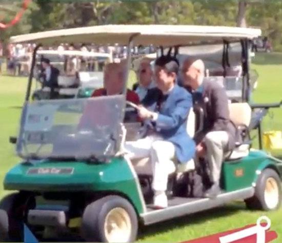 ترامب-ورئيس-وزراء-اليابان-يلعبان-الجولف-7