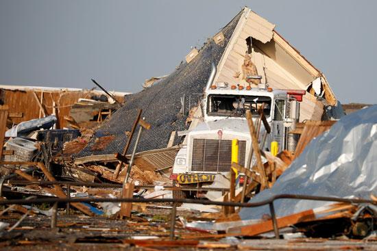 آثار أعاصير ضربت ولاية أوكلاهوما