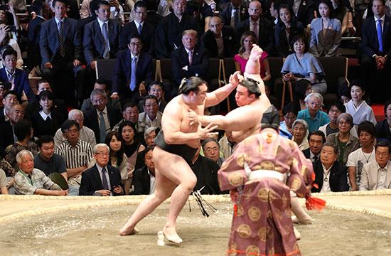 مبارة نهائى البطولة اليابانية فى مصارعة السومو