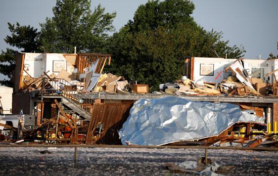 أعصار ضرب ولاية أوكلاهوما الأمريكية
