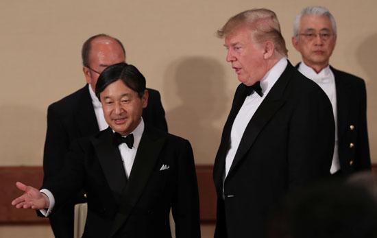 مأدبة عشاء رسمية بين الإمبراطور اليابانى ودونالد ترامب (6)