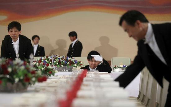 مأدبة عشاء رسمية بين الإمبراطور اليابانى ودونالد ترامب (8)