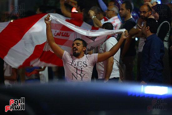 احتفالات جماهير الزمالك في شارع جامعة الدول العربية1 (16)