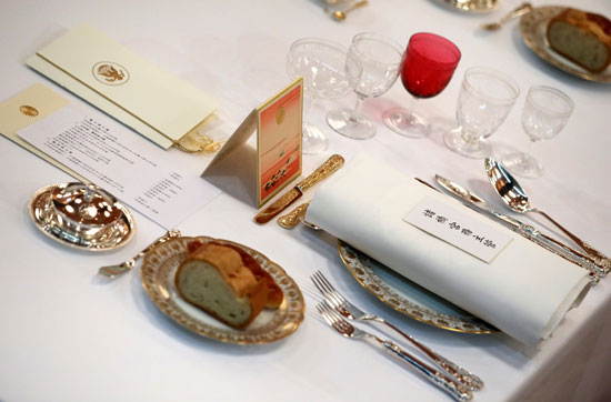 مأدبة عشاء رسمية بين الإمبراطور اليابانى ودونالد ترامب (5)
