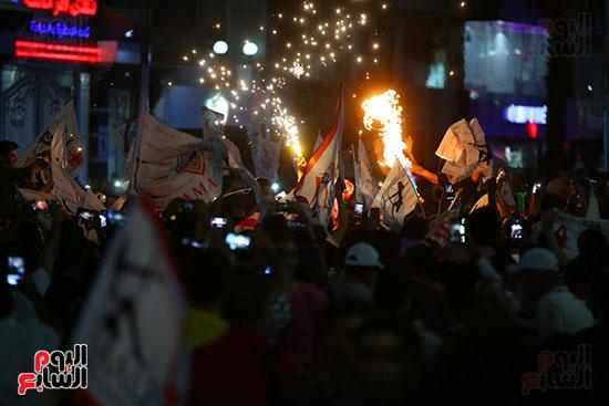 احتفالات جماهير الزمالك في شارع جامعة الدول العربية1 (32)