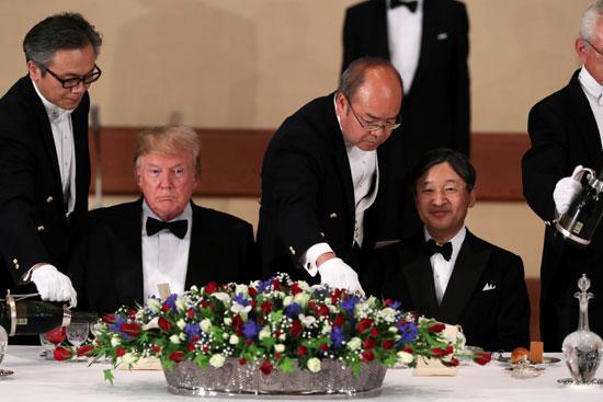 مأدبة عشاء رسمية بين الإمبراطور اليابانى ودونالد ترامب (9)