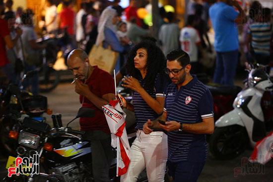 احتفالات جماهير الزمالك في شارع جامعة الدول العربية1 (13)