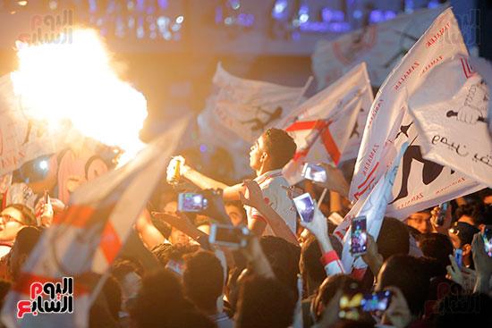 احتفالات جماهير الزمالك في شارع جامعة الدول العربية (20)