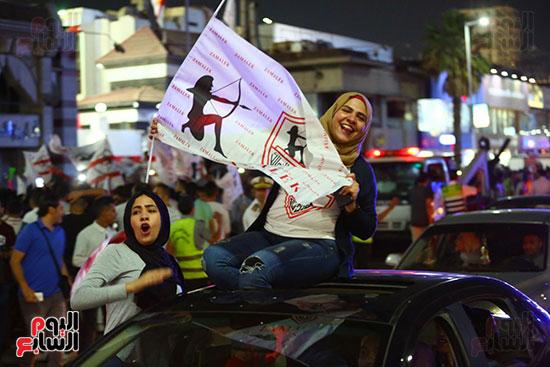 احتفالات جماهير الزمالك في شارع جامعة الدول العربية1 (5)