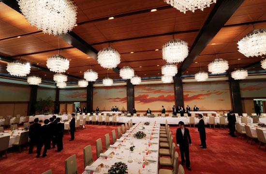 مأدبة عشاء رسمية بين الإمبراطور اليابانى ودونالد ترامب (11)