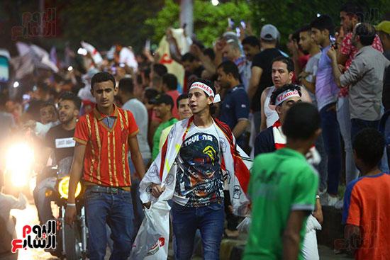 احتفالات جماهير الزمالك في شارع جامعة الدول العربية1 (21)