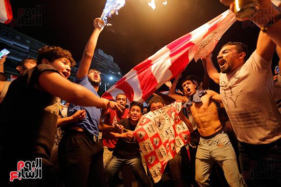 احتفالات جماهير الزمالك في شارع جامعة الدول العربية (13)