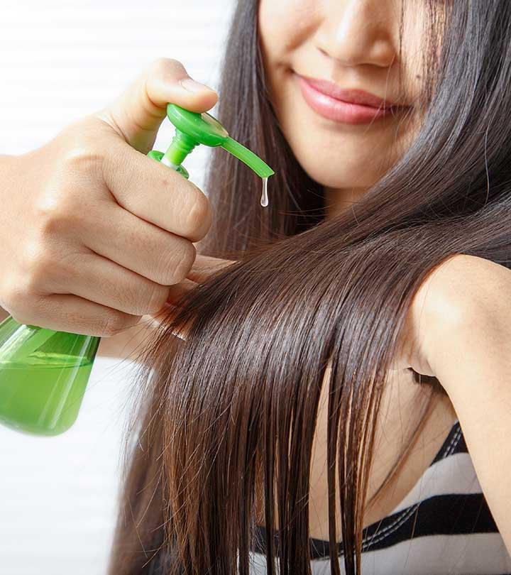 وضع سيرم مغذى حسب نوع الشعر بعد التخلص من الماء الزائد.