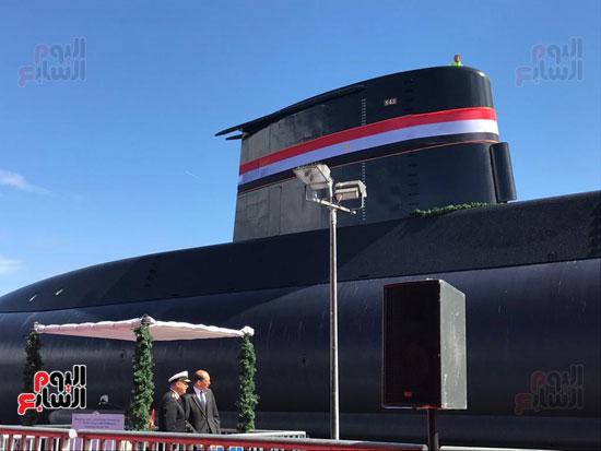 القوات المسلحة تحتفل بتدشين الغواصة المصرية الثالثة  (1)
