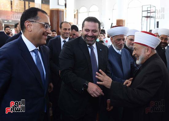 مدبولى يصلى الجمعة مع نظيره اللبنانى بأحد مساجد بيروت (7)