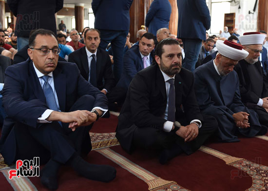 مدبولى يصلى الجمعة مع نظيره اللبنانى بأحد مساجد بيروت (1)