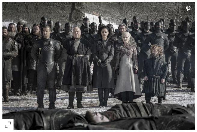 مشهد من الحلقة Game of Thrones