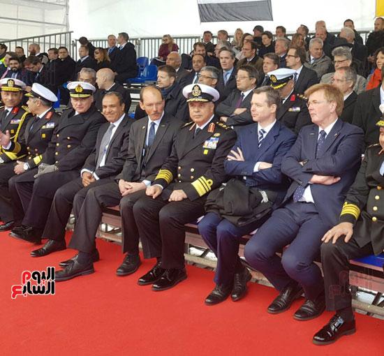 القوات المسلحة تحتفل بتدشين الغواصة المصرية الثالثة  (3)