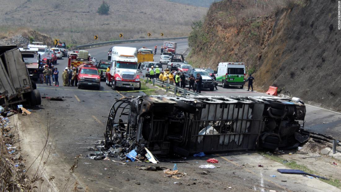 حادث تصادم فى المكسيك