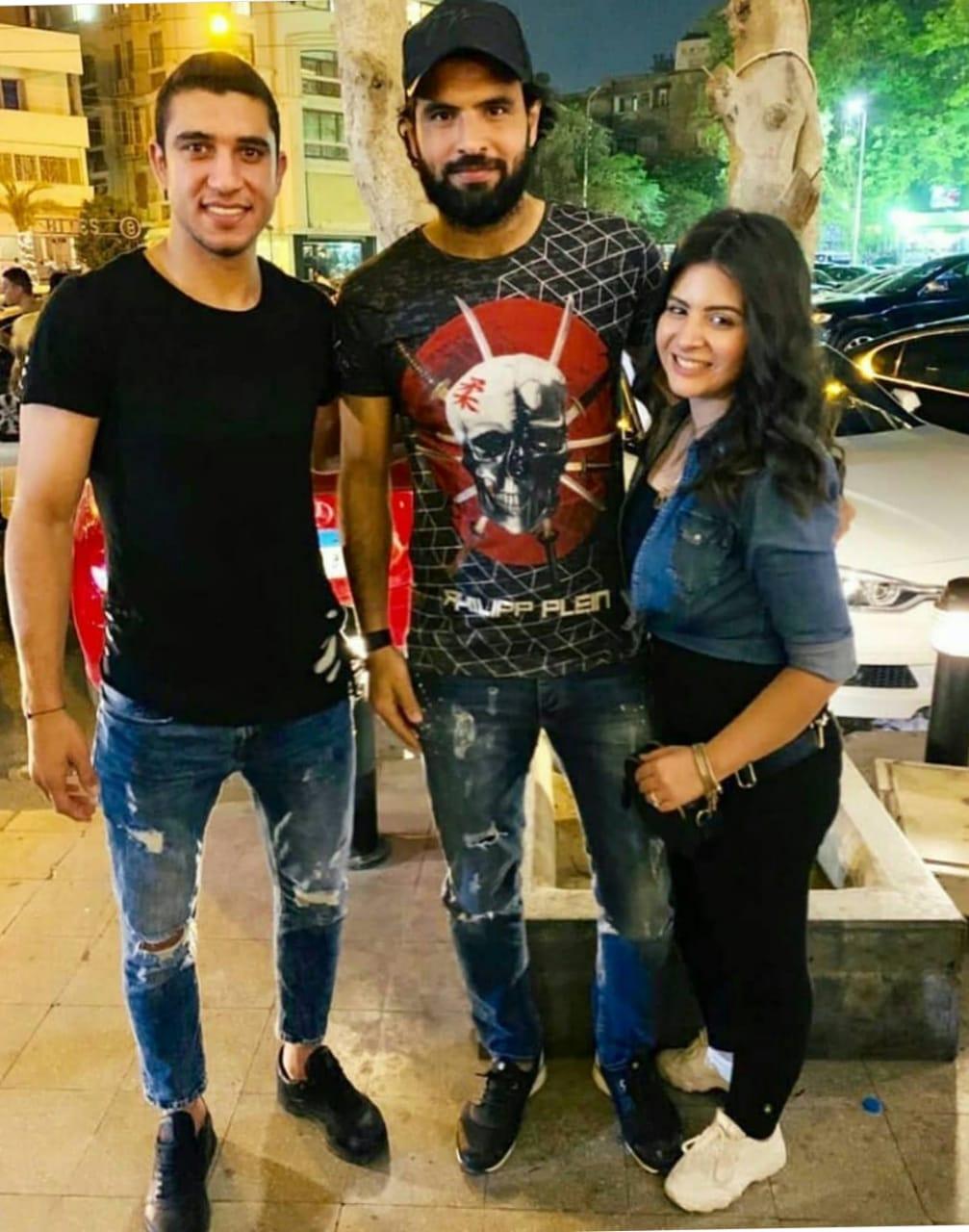 جعفر وزوجته مع احمد حسن كوكا