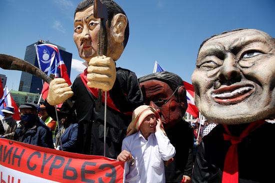 مظاهرات منغوليا