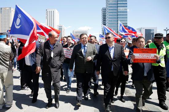 مظاهرات بمنغوليا
