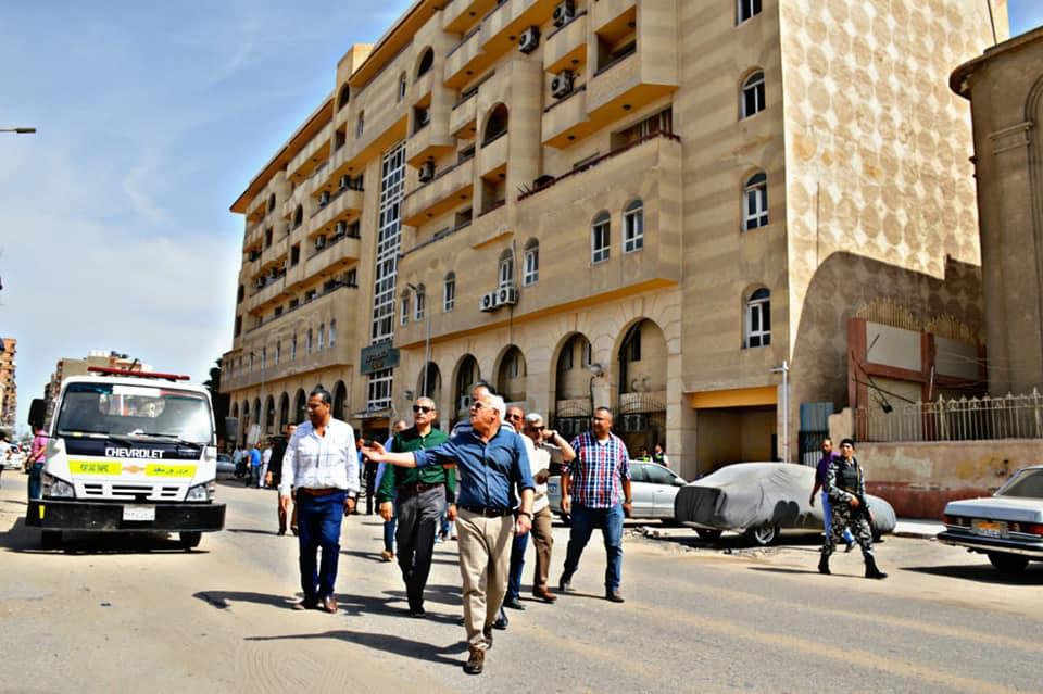 محافظ بورسعيد يتفقد محور أوجينى (2)