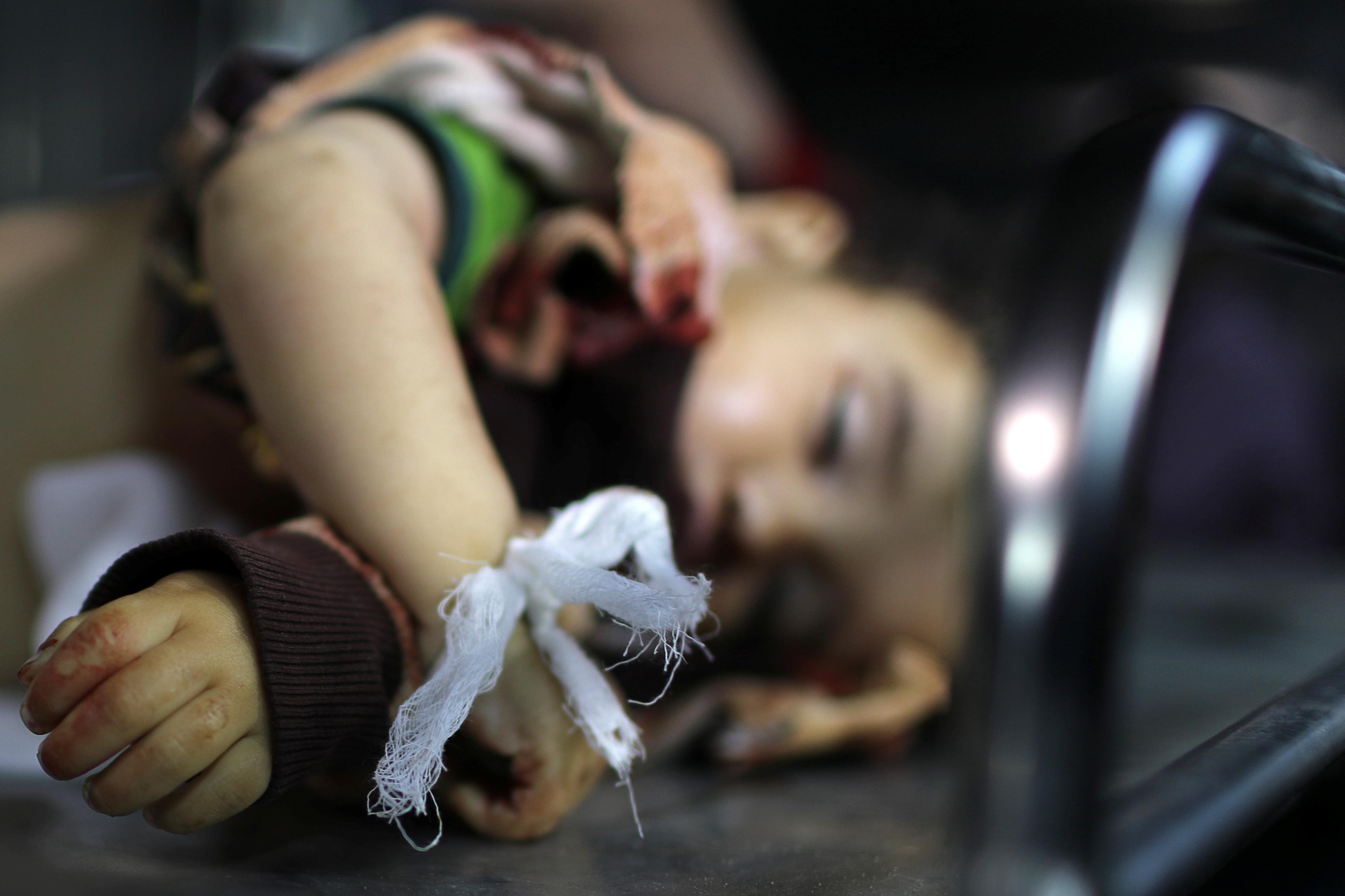 استشهاد طفلة فى العدوان على غزة (2)