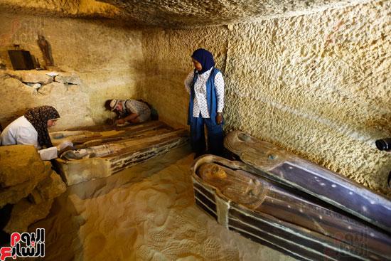 اكتشاف مقبرة لكاهنين من عصر الدولة القديمة فى الهرم (25)