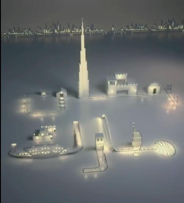 حمدان بن راشد يستخدم معالم الإمارات للتهنئة بحلول شهر رمضان (5)
