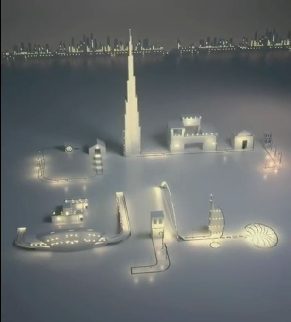 b5f85d4d5 حمدان بن راشد يستخدم معالم الإمارات للتهنئة بحلول شهر رمضان.. فيديو ...