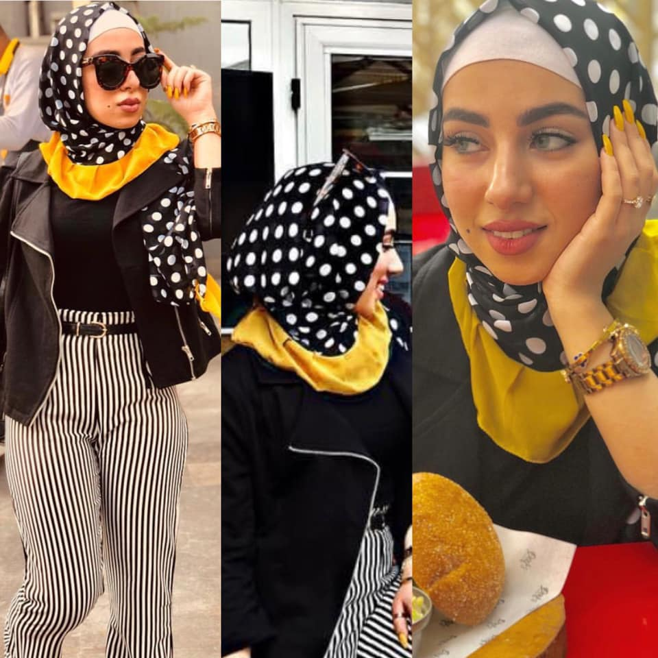 71423bc318aeb 4- يمكن للفتاة تصميم حجاب يتناسب مع إطلالتها بحيث يكون مميز ومخصوص لها  وحدها فيكون من الشيفون والأطراف من البليسية الكبير