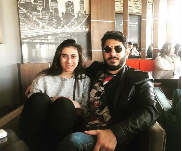نور الشربيني وشقيقها عمر الشربينى