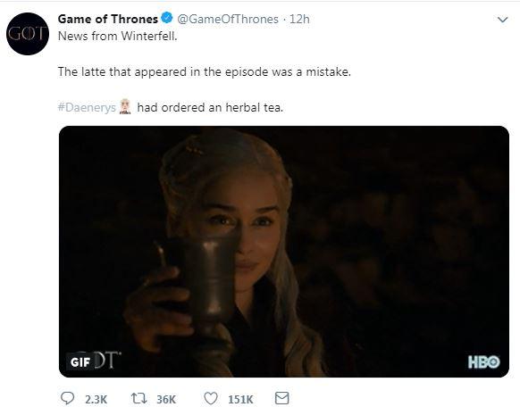 Game Of Thrones تعتذر عن ظهور كوب القوة الورقية