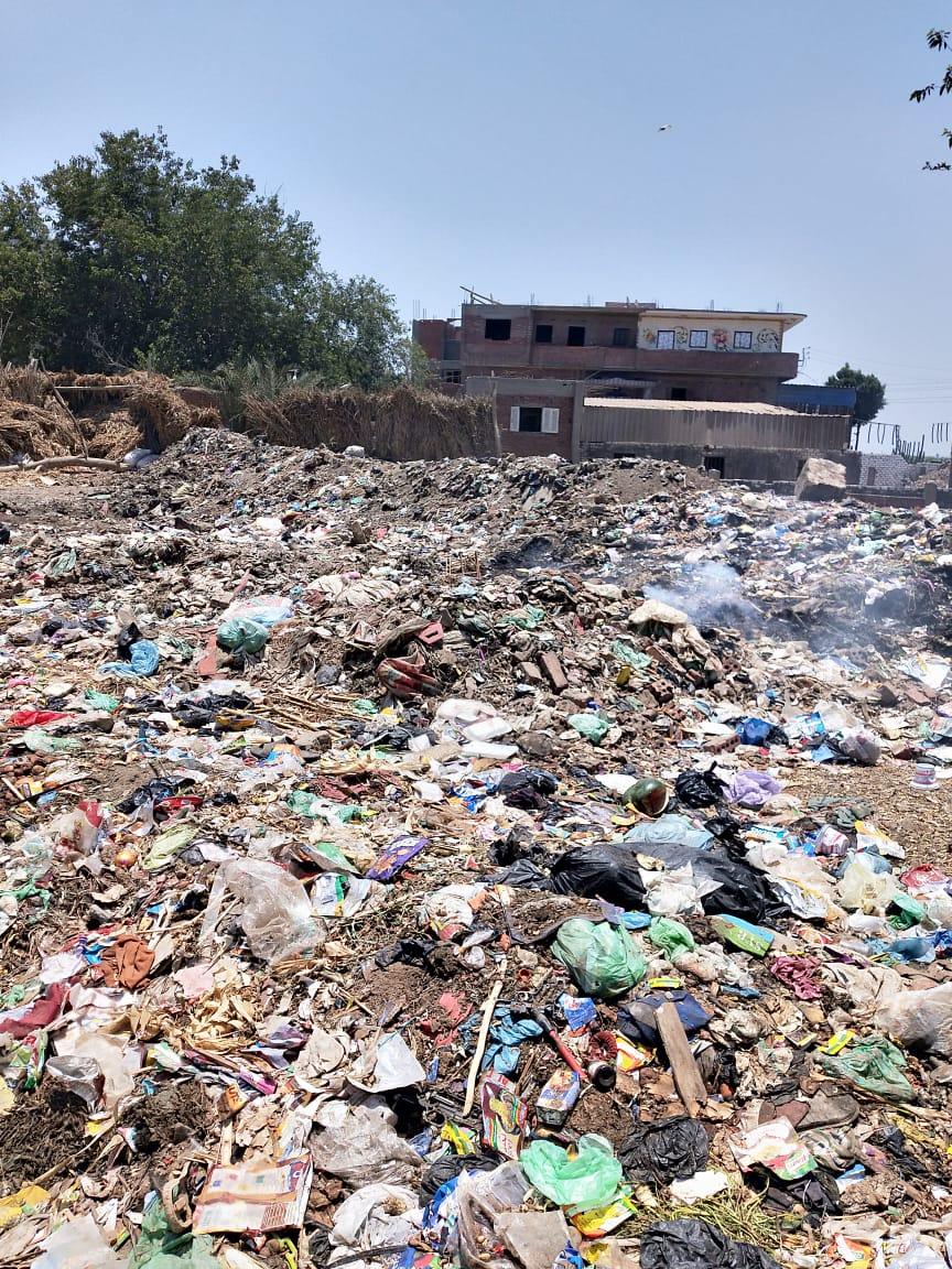 القمامة بقرية طملاى