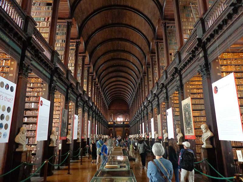 المكتبة القديمة ، كلية ترينتي ، دبلن