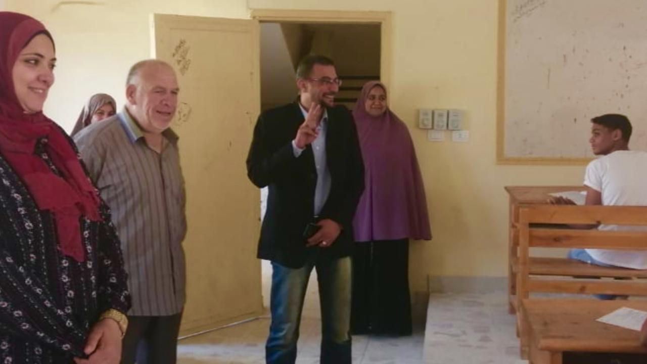 مدير صحة شمال سيناء يتفقد لجان امتحانات التمريض (2)