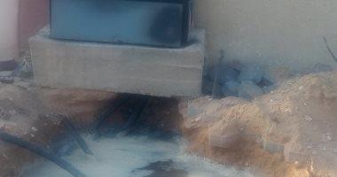 المياه تغمر كابينه كهرباء بمشروع أبنى بيتك فى 6 أكتوبر
