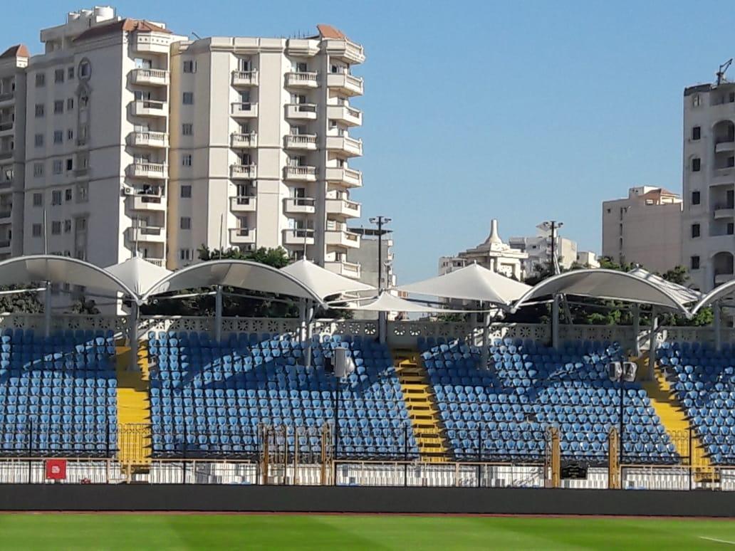 """صور.. استاد الإسكندرية جاهز لاستقبال """"الكان""""..الملعب يتزين لاستضافة 7مباريات  130587-4c77d893-de33-42e3-80bb-f1f3c54bb23b"""