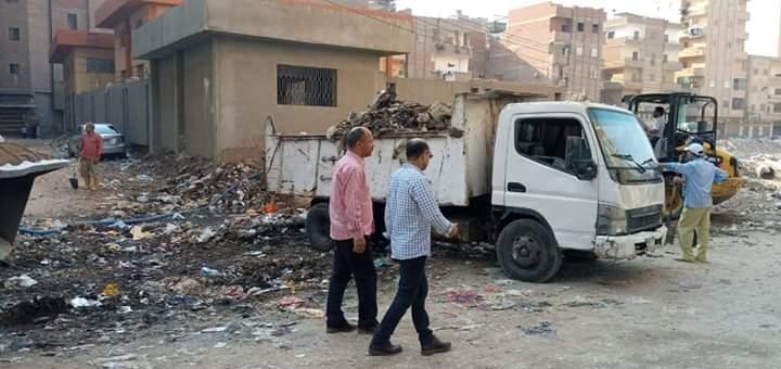 حملات لرفع القمامة بشوارع المحلة_1