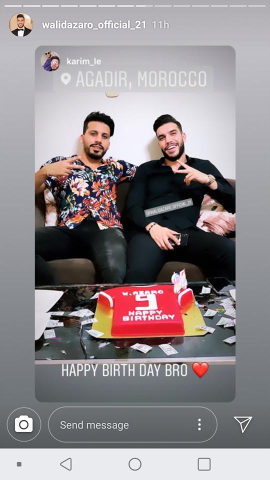 وليد ازارو يحتفل بعيد ميلاده