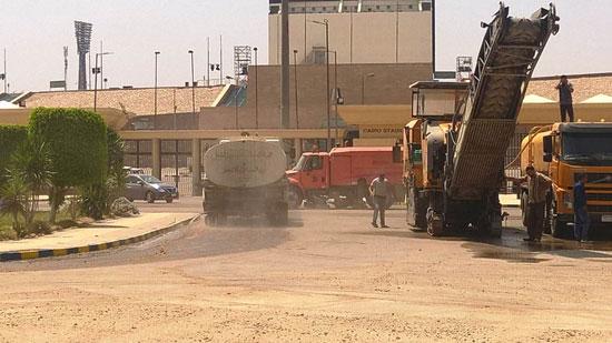محافظ القاهرة يتفقد محيط استاد القاهرة   (7)