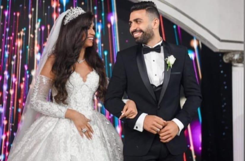 أسامة و ميرنا فى حفل الزفاف