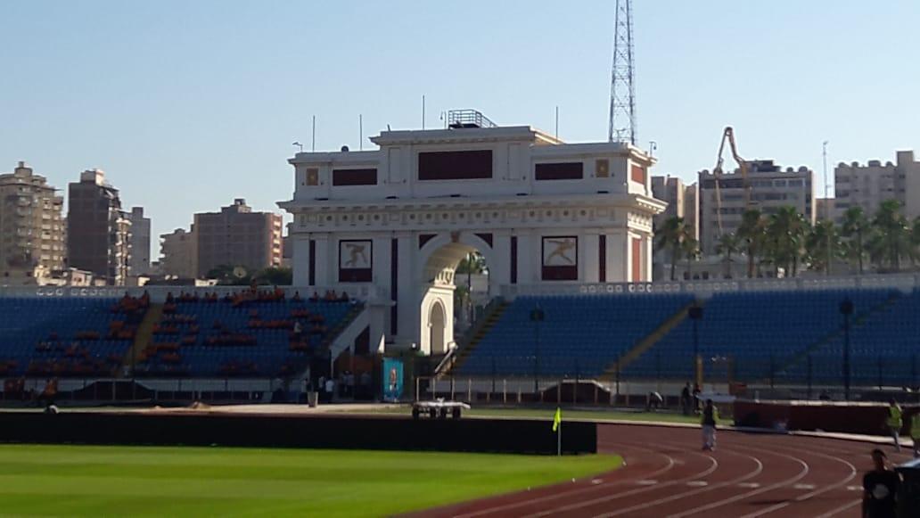 """صور.. استاد الإسكندرية جاهز لاستقبال """"الكان""""..الملعب يتزين لاستضافة 7مباريات  54664-70188b2f-5dbd-4708-9ad7-e24bc60e5a90"""