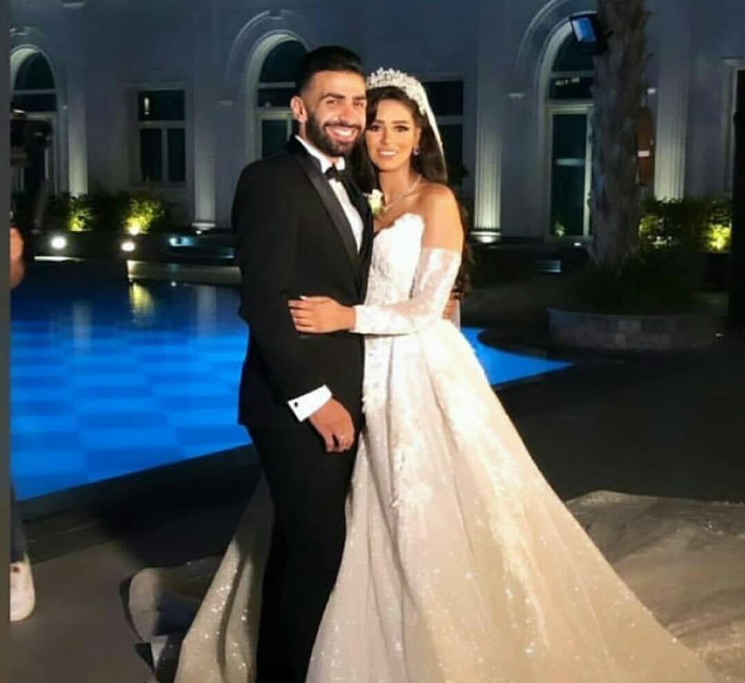 أسامة و ميرنا فى حفل زفافهما