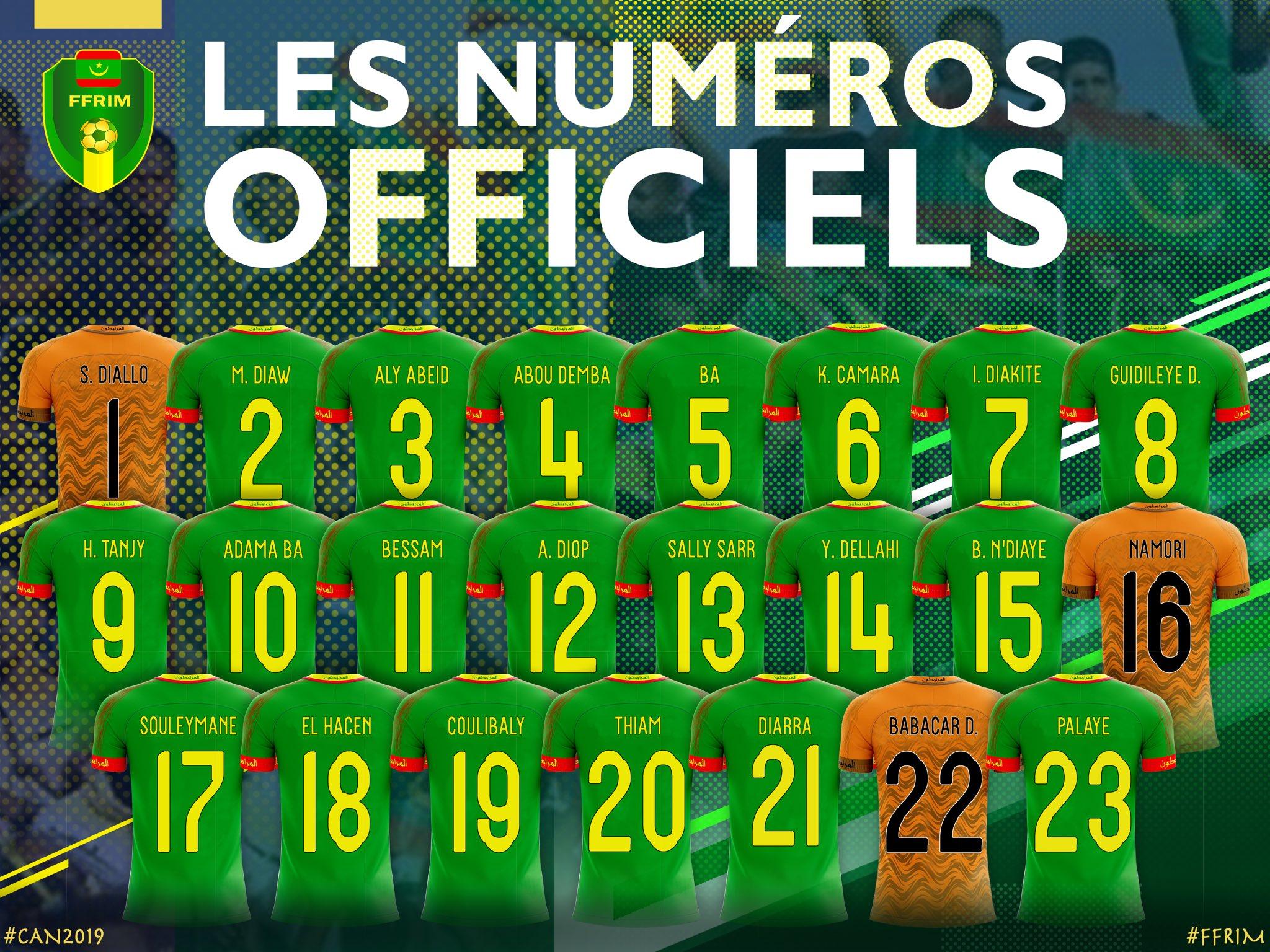 قائمة موريتانيا في كأس الأمم الأفريقية