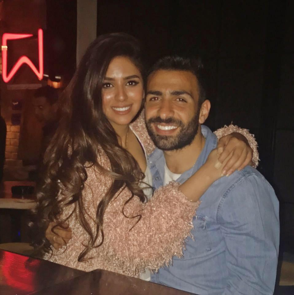 أسامة إبراهيم و زوجته ميرنا